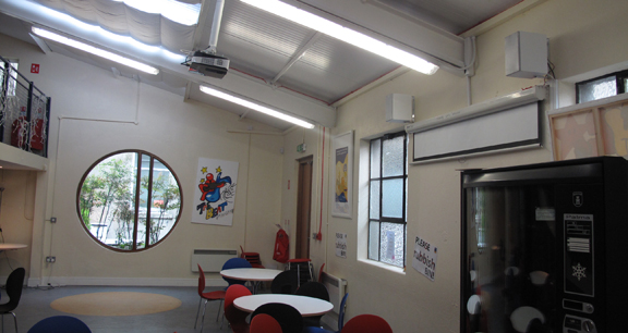 College canteen lighting and general electrical