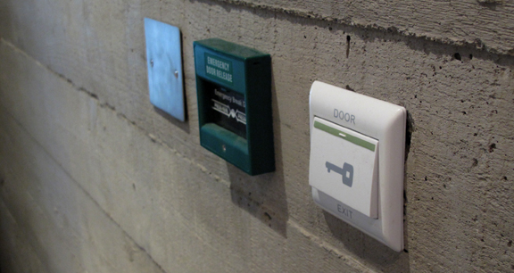 Example of access control switches in situ