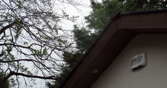 Example of a REID Security Alarm in situ.