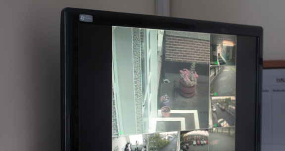 Example of CCTV footage on-screen